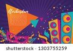 popular event in brazil.... | Shutterstock .eps vector #1303755259