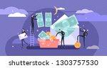 corruption vector illustration. ... | Shutterstock .eps vector #1303757530