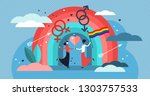 lgbt vector illustration. flat... | Shutterstock .eps vector #1303757533