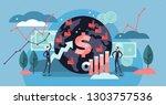 macroeconomics vector... | Shutterstock .eps vector #1303757536