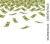 banner with money. rain of... | Shutterstock .eps vector #1303767613