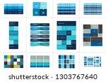 big set of tables  schedules ... | Shutterstock .eps vector #1303767640