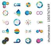 mega set of  circle  round ... | Shutterstock .eps vector #1303767649