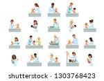 pediatrician doctors doing...   Shutterstock .eps vector #1303768423