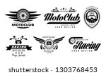 vector set of original emblems... | Shutterstock .eps vector #1303768453