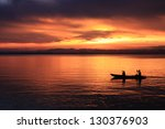 Image Of Silhouette  Rower At...