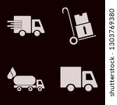 truck icon set with oil truck ... | Shutterstock .eps vector #1303769380