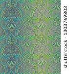 classic seamless wallpaper... | Shutterstock . vector #1303769803