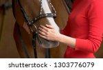 close up hands of woman hugging ... | Shutterstock . vector #1303776079