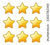 set of golden star shape for...