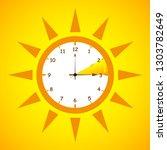 summer time standard time after ... | Shutterstock .eps vector #1303782649