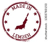 made in lembeh stamp. grunge...