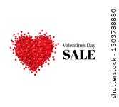 valentines day banner with... | Shutterstock .eps vector #1303788880