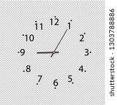 clock on transparent background ... | Shutterstock .eps vector #1303788886