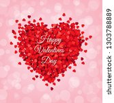 red heart isolated pink... | Shutterstock .eps vector #1303788889