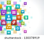 social media icons vector... | Shutterstock .eps vector #130378919