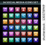 social media icons vector | Shutterstock .eps vector #130378949