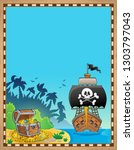 pirate topic parchment 9  ... | Shutterstock .eps vector #1303797043
