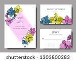 vector orcid botanical flower.... | Shutterstock .eps vector #1303800283