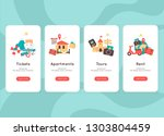 mobile app template  time to... | Shutterstock .eps vector #1303804459