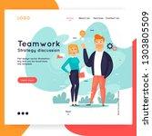 site template  teamwork ... | Shutterstock .eps vector #1303805509