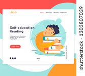 landing page. website template. ... | Shutterstock .eps vector #1303807039