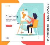 landing page. website template. ... | Shutterstock .eps vector #1303809373