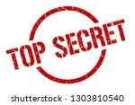 top secret red round stamp | Shutterstock .eps vector #1303810540