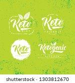 keto friendly diet nutrition... | Shutterstock .eps vector #1303812670