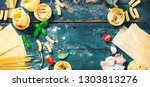 italian food background with... | Shutterstock . vector #1303813276