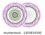 mandala floral ornament for... | Shutterstock .eps vector #1303814200
