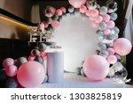 delicious wedding reception.... | Shutterstock . vector #1303825819