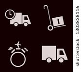 truck icon set with truck ... | Shutterstock .eps vector #1303838116