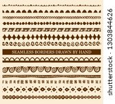 vector set of hand drawn... | Shutterstock .eps vector #1303844626