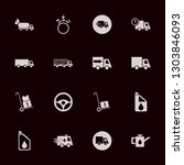 truck icon set with steering... | Shutterstock .eps vector #1303846093