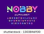 modern font design  trendy... | Shutterstock .eps vector #1303846930