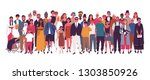 diverse multiracial and... | Shutterstock .eps vector #1303850926