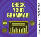 text sign showing check your... | Shutterstock . vector #1303852000