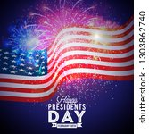 happy presidents day of the usa ... | Shutterstock .eps vector #1303862740