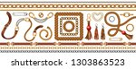 set with belts and gold and... | Shutterstock .eps vector #1303863523