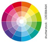 color wheel. vector... | Shutterstock .eps vector #130386464