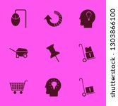push icon set with shopping... | Shutterstock .eps vector #1303866100