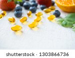close up vitamin supplement... | Shutterstock . vector #1303866736