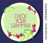 text sign showing check your... | Shutterstock . vector #1303868353
