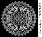 mandala vector design ...   Shutterstock .eps vector #1303868953