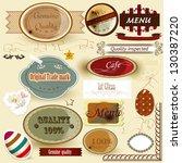 set of vector labels original ... | Shutterstock .eps vector #130387220