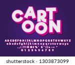 3d cartoon text effects design | Shutterstock .eps vector #1303873099