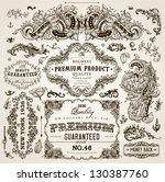 vector set of calligraphic... | Shutterstock .eps vector #130387760