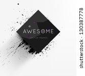 abstract modern frame for... | Shutterstock .eps vector #130387778