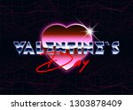 valentines day holiday... | Shutterstock .eps vector #1303878409